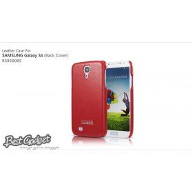 Кожаная накладка IcareR для Samsung i9500 Galaxy S4 (Back Cover Red)