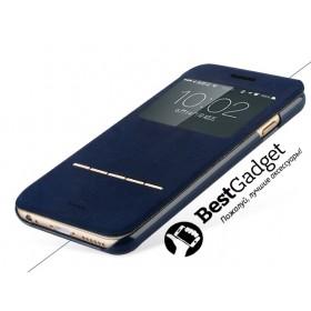 Кожаный чехол Baseus Terse iPhone 6 (Темно Синий)