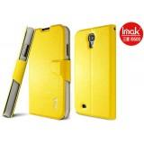 Кожаный чехол c подставкой IMAK для Samsung i9500 Galaxy s4 (Beauty Fashion Yellow)