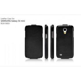 Кожаный чехол для Samsung Galaxy S4 Mini (IcareR Classic black flip)