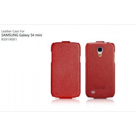 Кожаный чехол для Samsung Galaxy S4 Mini (IcareR Classic red flip)