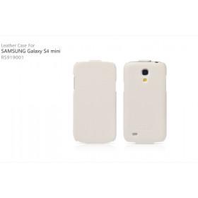 Кожаный чехол для Samsung Galaxy S4 Mini (IcareR Classic white flip)