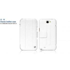 Кожаный чехол HOCO Classic для Samsung N7100 Galaxy Note 2 (white)
