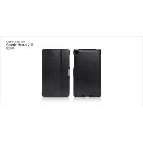 Кожаный чехол Icarer для Google Nexus 7  II 2 (2013) (Black)