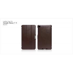 Кожаный чехол Icarer для Google Nexus 7  II 2 (2013) (Cofee Brown)