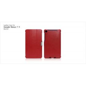 Кожаный чехол Icarer для Google Nexus 7  II 2 (2013) (Red)