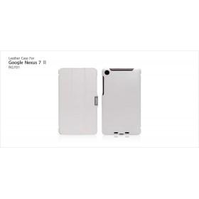 Кожаный чехол Icarer для Google Nexus 7  II 2 (2013) (White)