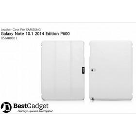 Кожаный чехол Icarer для Samsung Galaxy Note 10.1 2014 Edition (Белый)