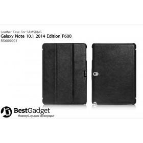 Кожаный чехол Icarer для Samsung Galaxy Note 10.1 2014 Edition (Черный)