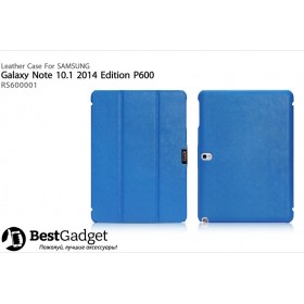 Кожаный чехол Icarer для Samsung Galaxy Note 10.1 2014 Edition (Синий)