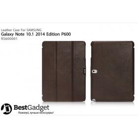 Кожаный чехол Icarer для Samsung Galaxy Note 10.1 2014 Edition (Коричневый)