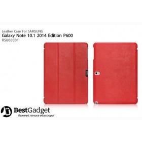 Кожаный чехол Icarer для Samsung Galaxy Note 10.1 2014 Edition (Красный)