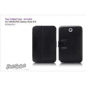 Кожаный чехол IcareR для Samsung n5100 Galaxy Note 8.0 (Two Folder Black)