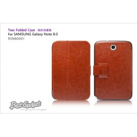 Кожаный чехол IcareR для Samsung n5100 Galaxy Note 8.0 (Two Folder Brown)