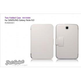 Кожаный чехол IcareR для Samsung n5100 Galaxy Note 8.0 (Two Folder White)