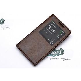Кожаный чехол iCase Tec для Samsung n9000 Galaxy Note 3 (Book ID Brown)