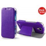 Кожаный чехол IMAK для Samsung i9500 Galaxy S4 (Steel Series Purple)
