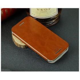 Кожаный чехол-книжка MOFI для HTC One M8 (Коричневый)