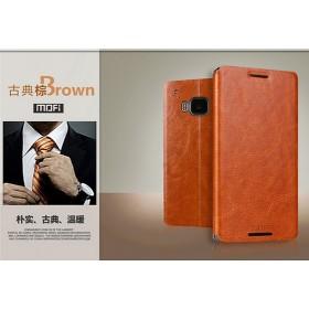 Кожаный чехол-книжка MOFI для HTC One M9 (Коричневый)