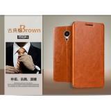 Кожаный чехол-книжка MOFI для Meizu MX5 (Коричневый)