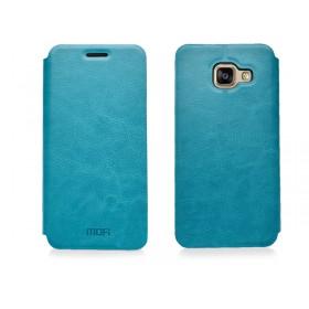 Кожаный чехол-книжка MOFI для Samsung Galaxy A7 2016 (A710) (Синий)