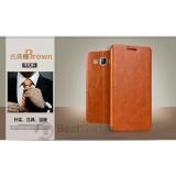 Кожаный чехол-книжка MOFI для Samsung Galaxy J7 (J700H/DS) (Коричневый)
