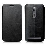 """Кожаный чехол-книжка MOFI RUI Series для Asus Zenfone 2 (5.5"""") (Черный)"""