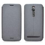 """Кожаный чехол-книжка MOFI Sand для Asus Zenfone 2 (5.5"""") (Серый)"""