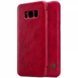 Кожаный чехол (книжка) Nillkin Qin series для Samsung Galaxy S8 Plus + (Красный)
