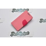 Кожаный чехол Mercury Fancy Diary для Samsung Galaxy s4 Mini (Pink/Hot Pink)