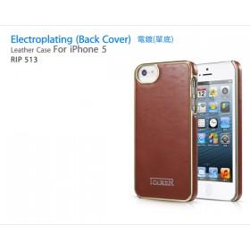 Кожаный чехол накладка IcareR для iPhone 5 / 5s / SE (Electroplating brown)