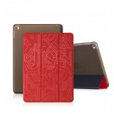 Кожанный чехол-книжка HOCO Cube series leather case for iPad Air 2 (Красный / Черный)