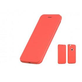 Кожанный чехол-книжка HOCO Juice Series Nappa для iPhone 6 Plus / 6s Plus (Красный)