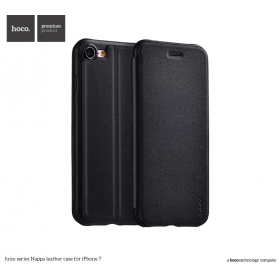Кожанный чехол-книжка HOCO Juice Series Nappa для iPhone 7 | 8 (Black)