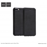 Кожанный чехол-книжка HOCO Juice Series Nappa для iPhone 7 Plus | 8 Plus (Black)