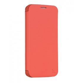 Кожанный чехол-книжка HOCO Juice Series Nappa для Samsung S6 Edge (Красный)