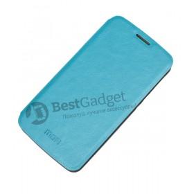 Mofi! Кожаный чехол книжка с функцией подставки для LG G2 Mini (Синий)