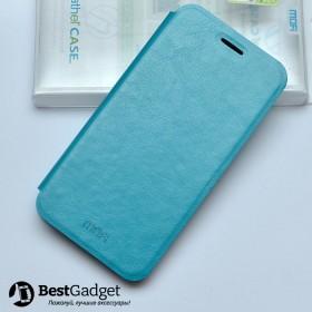 Mofi! Кожаный чехол книжка для HTC Desire 616   Синий с функцией подставки