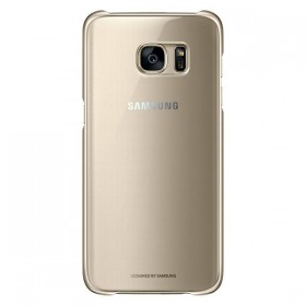 Оригинальная накладка Clear Cover для Samsung Galaxy S7 edge (G935) (GOLD  EF-QG935CFEGUS)