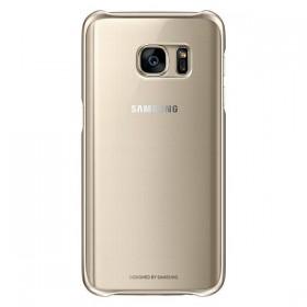 Оригинальная накладка Clear Cover для Samsung Galaxy S7 (GOLD  EF-QG930CFEGUS)