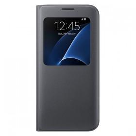 Оригинальный чехол S View Cover для Samsung Galaxy S7 edge (G935) (BLACK  EF-CG935PBEGUS)