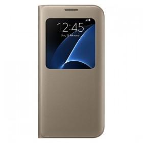 Оригинальный чехол S View Cover для Samsung Galaxy S7 edge (G935) (GOLD  EF-CG935PFEGUS)
