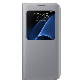 Оригинальный чехол S View Cover для Samsung Galaxy S7 edge (G935) (SILVER  EF-CG935PSEGUS)
