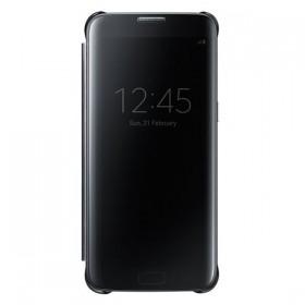 Оригинальный чехол Samsung Clear View Cover для Galaxy S7 Edge (BLACK EF-ZG935CBEGRU)