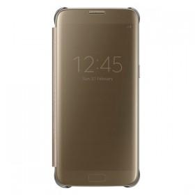 Оригинальный чехол Samsung Clear View Cover для Galaxy S7 Edge (GOLD EF-ZG935CFEGRU)