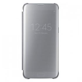 Оригинальный чехол Samsung Clear View Cover для Galaxy S7 Edge (SILVER EF-ZG935CSEGRU)