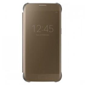 Оригинальный чехол S View Cover для Samsung Galaxy S7 (GOLD EF-CG930PFEGUS)