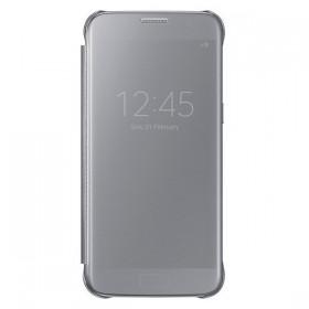 Оригинальный чехол Samsung Clear View Cover для Galaxy S7 (SILVER  EF-ZG930CSEGUS)