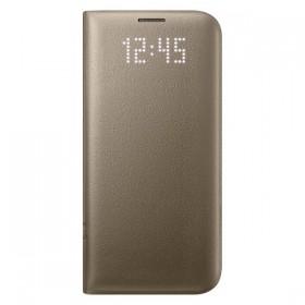 Оригинальный чехол Samsung LED View Cover для Galaxy S7 Edge (GOLD EF-NG935PFEGUS)