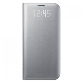 Оригинальный чехол Samsung LED View Cover для Galaxy S7 Edge (SILVER EF-NG935PSEGRU)